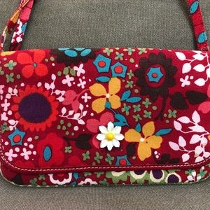 Brighton Handbag Multi-Color Floral Canvas Leather